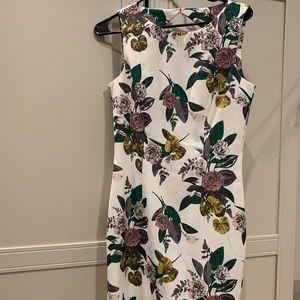 H&M floral print knee-length sheath dress